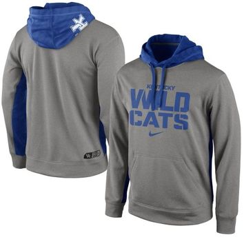 Nike Kentucky Wildcats KO Performance Hoodie - Ash