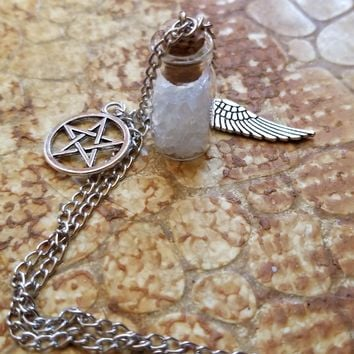 Supernatural Salt Rock Charm Necklace