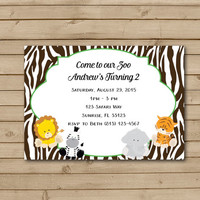 Safari Birthday Party Invitations