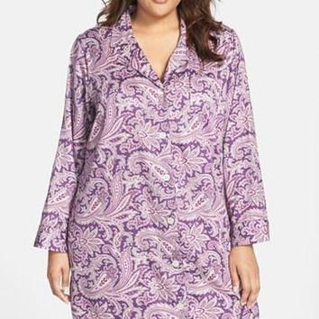 Plus Size Women's Lauren Ralph Lauren Sateen Nightshirt,