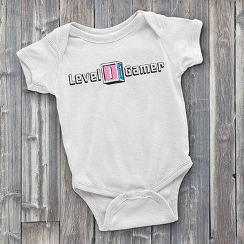 Level 1 Gamer, gamer Onesuits, video game Onesuits, baby shower gifts, gamer bodysuits, gaming Onesuits, gamer baby clothes, baby clothes, cute