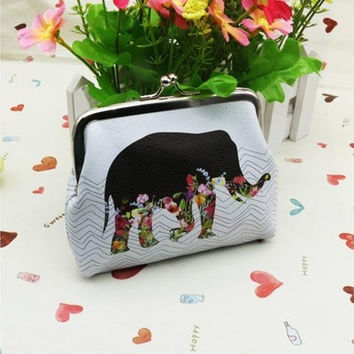 Womens Fashion and New Elephant Wallet Card Holder Coin Purse Clutch Handbag