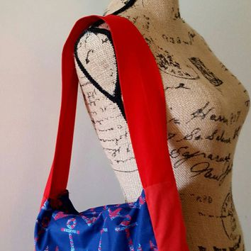 Anchors - nautical - rockabilly - handbag fully lined with top zip