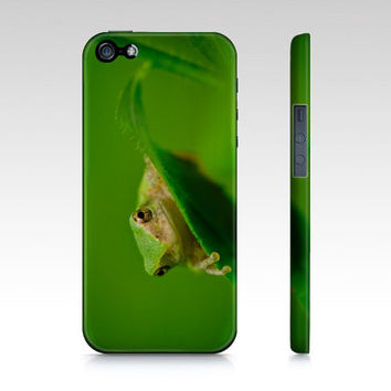 iPhone Case, iPhone 4/4S, iPhone 5, Samsung Galaxy S3, Green Tree Frog, Nature Photography, Whimsical, Father's Day