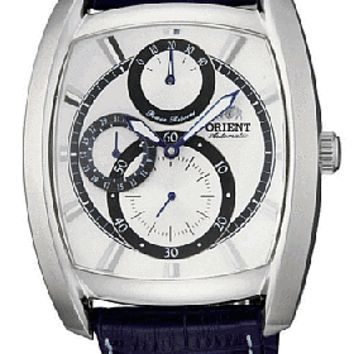 Orient Men's Automatic Power Reserve Leather Strap Watch CEZAD003W