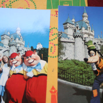 Disneyland  Post Card Lot of 2,Vintage Paper Ephemera