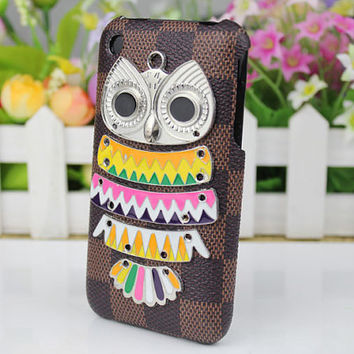 Silvery  Owl And   Hard Case Cover for Apple iPhone 3 Case, iPhone 3gs Case, iPhone 3g Hard Case