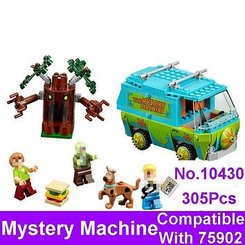 2017 New BELA 10430 Scooby Doo The Mystery Machine Bus Figure Set Building Bricks Blocks Compatible 75902 Toys For Children Gift