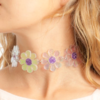 Glitter Princess Flower Power Choker