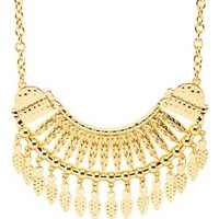 Gold Hammered Golden Collar Necklace by Charlotte Russe