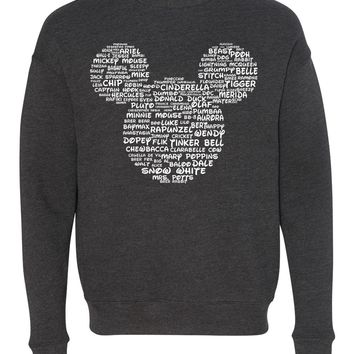 Name That Disney Character Adult Mickey Park Sweatshirt