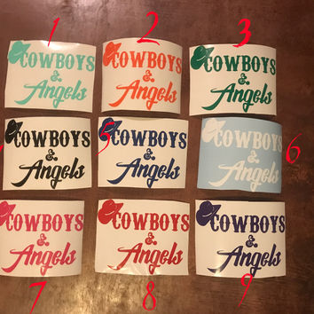 Cowboys & Angels Sticker {MULTIPLE COLORS}