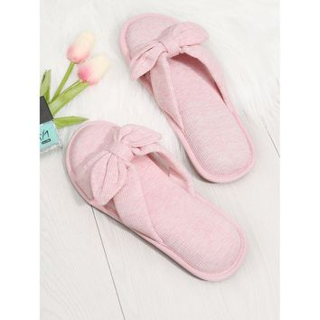 Knot Design Flat Slippers