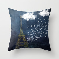 A Parie Throw Pillow by Texnotropio