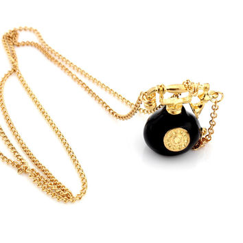 European and American Fashion Jewelry Retro Phone Pendant Necklace High Quality Long Style Sweater Chain