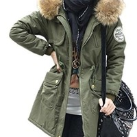 Women's Thicken Winter Coats Drawstring Padded Jackets