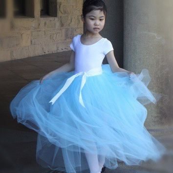 Aqua blue Flower Girl tutu Fully sewn tutu in aqua by TutusChic