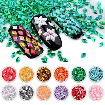 Holographic Diamond Nail Glitter Sequins Nail Flakes Decoration 1g Summer Color Fingernail Powder Dust DIY Manicure Art Supplies