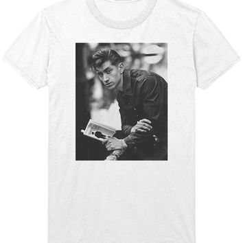 Alex Turner Reading T-Shirt - Arctic Monkeys Rockabilly Indie Rock Music Shirt Sweatshirt - Mens / Womens