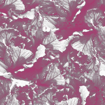 Pink Leaves Removable Wallpaper