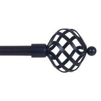 Lavish Home Twisted Sphere Curtain Rod 3-4 inch - Rubbed Bronze