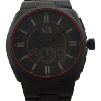 AX1801 Chronograph Black Ion Plated Stainless Steel Bracelet Watch Watch Armani Exchange