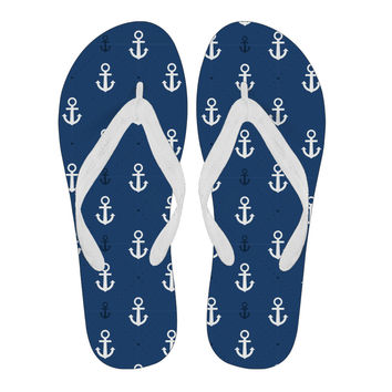 Anchor Blue men Flip Flop