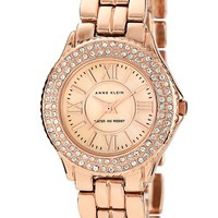 Women's Anne Klein Crystal Bezel Bracelet Watch