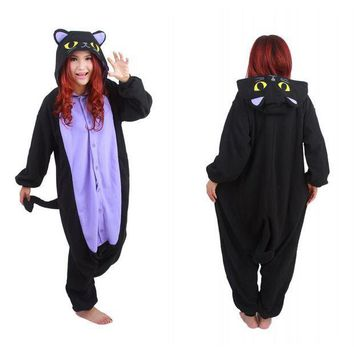 CREYCI7 Free Shipping  Hot New Adult Animal Onesuit The Midnight Cat Onesuit Cosplay Costume Pajamas for Sale in Stock
