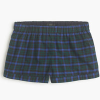 J.Crew Womens Midnight Plaid Flannel Pajama Short