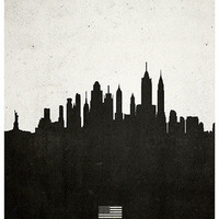New York architecture cityscape poster Calm The Ham | Calm The Ham
