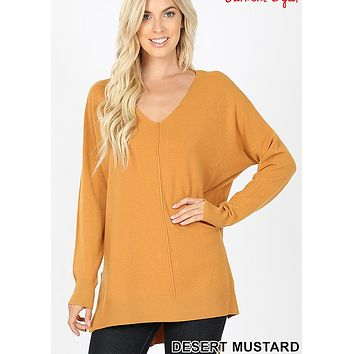 Wardrobe Malfunction Sweater - Desert Mustard