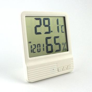 New Room Thermometer Hygrometer Alarm Clock LCD Digital Temperature Himidity Meter -10~70 Celsius for Home Weather Station