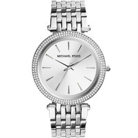 Michael Kors Ladies' Parker Elegant Silver Tone Chronograph Watch MK3190
