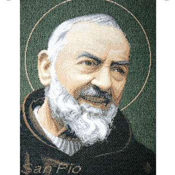 St. Pio Tapestry Wall Art Hanging