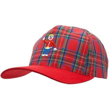 ESBGQ9 Mr. Bill - Red Plaid - Baseball Cap