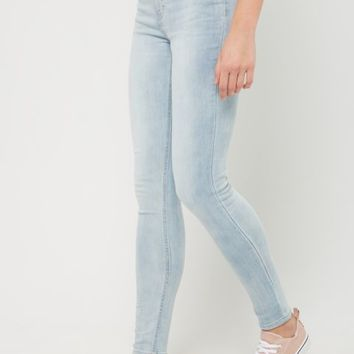 Light Blue Vintage High Rise Jeggings in Long