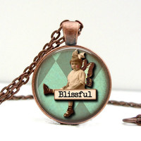 Blissful Vintage Girl Necklace