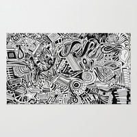 Inky \\ Area & Throw Rug by DuckyB (Brandi)
