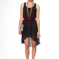 No Going Back Hi-Low Dress in Black :: tobi