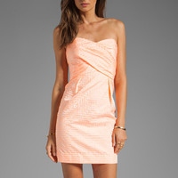 Shoshanna Kira Dress in Neon Guava from REVOLVEclothing.com