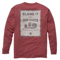 Our Roots: Rust Red Long Sleeve - Tees - Tops - Men