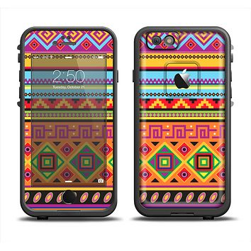 The Vector Gold & Purple Aztec Pattern V32 Apple iPhone 6 LifeProof Fre Case Skin Set