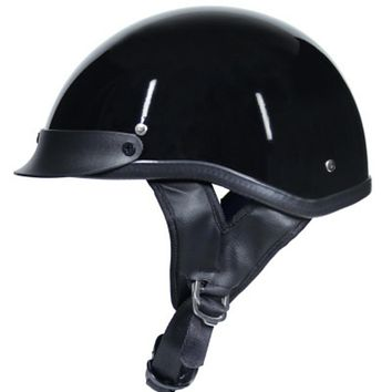 Vintage Motorcycle DOT Certified Motorbike Scooter Bike Half Helmet.