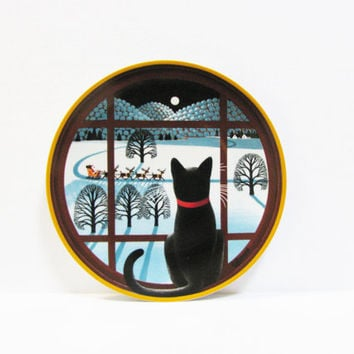 Uncle Tad's Holiday Cats Plate - Jingle Bells - Thaddeus Krumeich - Anna Perenna Collector Plates - Christmas Gift