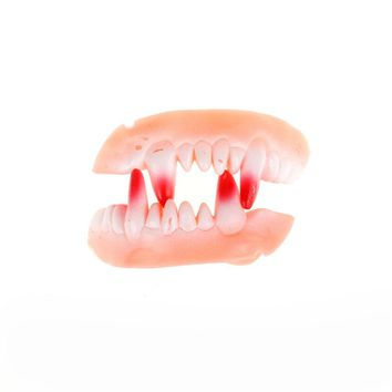 Luminous Vampire Fake Teeth Dracula Teeth Halloween Monster Werewolf Zombie Fangs Masquerade Cosplay Costume Prop
