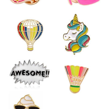 Enamel Cluster Pins - Totally '80s (15 options!)
