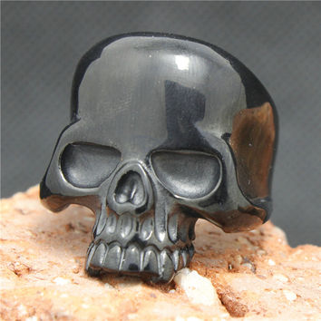 Black Stainless Skull Ring