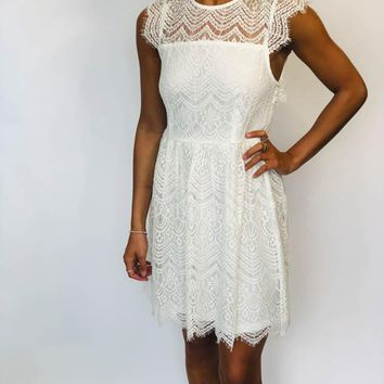 Lace Dress - White