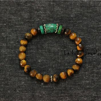 Tiger eye Natural Stone Bracelet for Men